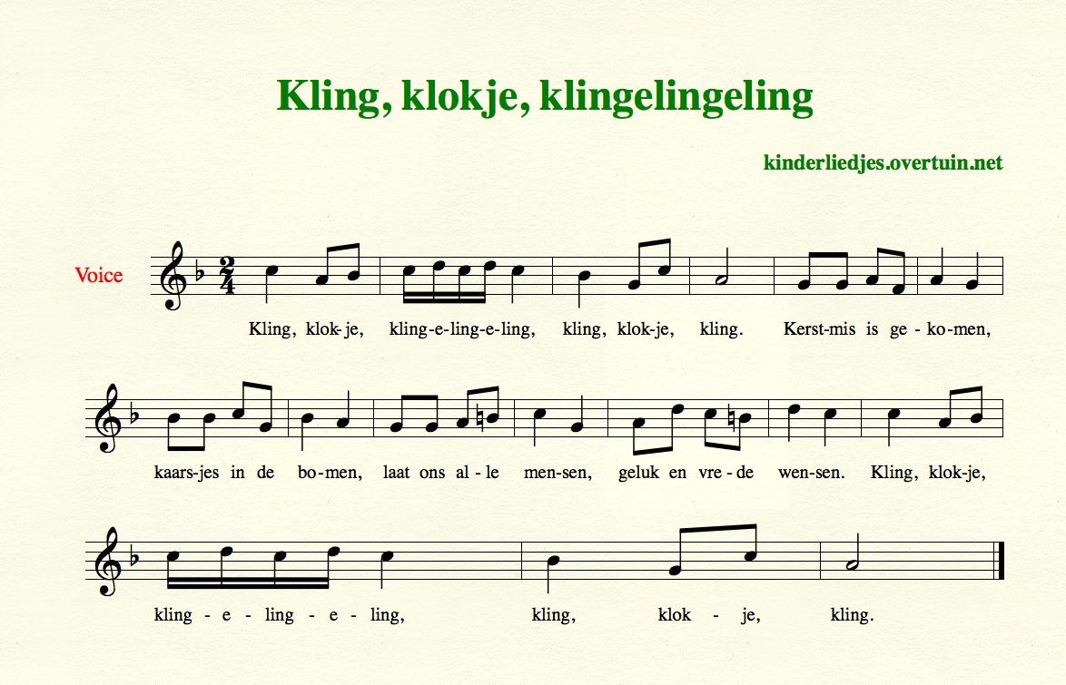 Kerstliedjes Voor Kinderen Tekst Muziek Bladmuziek